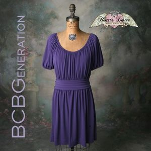 BCBGeneration Soft Gathered Dress Puff Sleeves Sm.